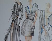 Fashion Illustration mini project- samurai inspiration