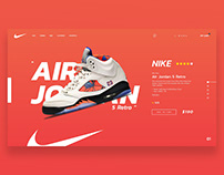 NIKE AIR JORDAN WEB DESIGN