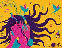 Ilustração Copo Festival COMA 2019