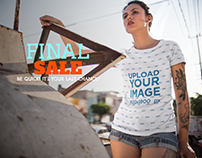 Facebook Ad - Young Woman Wearing a Sublimated Tee