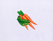 Carrot and Peas Digital Embroidery Design