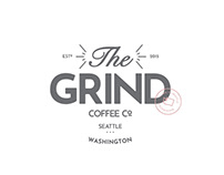 Branding and Identity Design for The Grind Coffee Shop