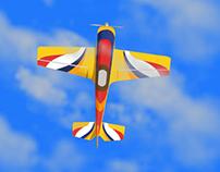 Ilustración de avión para una animación.