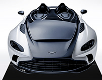 2020 Aston Martin V12 Speedster Black & White