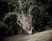 Landart sculpture in Devilstone festival 2017