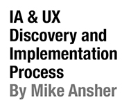 IA & UX Discovery and Implementation Process