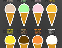 Retro Ice Cream Hex Colour Palette