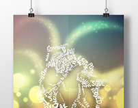 St. Valentine's Day Typographic Poster