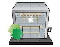 Apple Store Illustration
