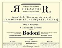 Bodoni: A Type Specimen Poster
