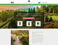 Website design for Landscape Company