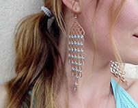 "Handmade tatting earrings ""Morocco"""