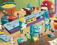 Robots Workshop Jigsaw Puzzle