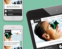 Webdesign for Plum A/S
