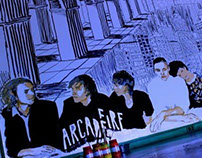 ARCADE FIRE painting