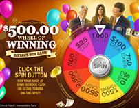Wheel of Winning game