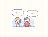 Customers Feedback & Mailing illustrations