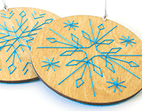 Wood Embroidery : Holiday Ornaments
