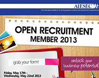 AIESEC Open Recruitment Poster