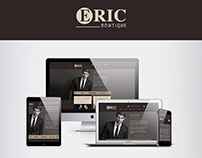 Site vitrine Eric boutique - Portfolio Maison du net