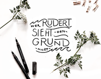 Lettering for Red Bull's MEIN DAHEIM interior magazin