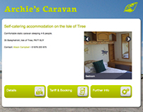Archie's Caravan • website design