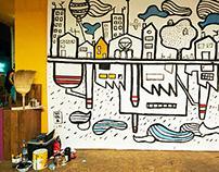 """Sconfinamenti"" \ live painting \ TORINO \ 2015"