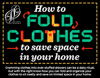 HOW TO FOLD CLOTHES TO SAVE SPACE AT HOME