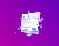 Web design and development process.
