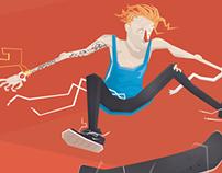 Skateboard Self Portrait Process