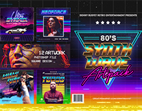 80's Synthwave Photoshop Templates