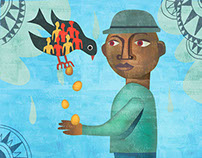 Getting Rich on Oil Illustration