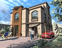 Design a private villa