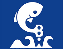 Brave Waves Swim School Logo Design