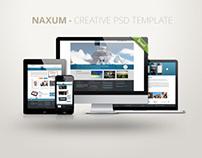Naxum - Creative PSD Template