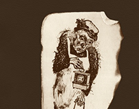 """D. Kharms """"Old Woman"""" , lithography"""