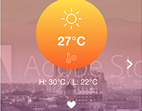 Adobe Xd Creative Daily Challenge #4 - Weather app