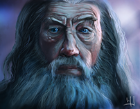 Gandalf is Ian McKellen - Portrait study.