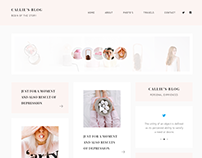 Callie - Blog Design