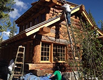 Fairplay Colorado New Log Home Construction