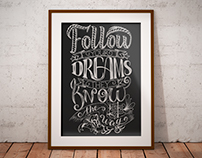 Set of posters with lettering, Inspirational quotes