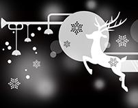商业插画 | 2016年餐厅圣诞橱窗图案设计