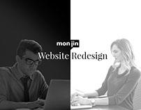 Monjin Website Redesign