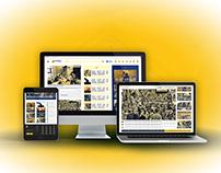 Pioneer UI design.... News portal....