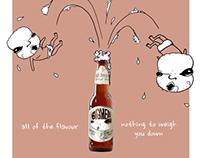 Big Head Beer Poster
