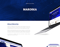 Marorka website redesign
