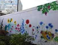 The Great Gray Wall Project Mural for Hartford Hospital