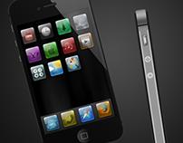 FREE iPhone / Ipad PSD illustrations