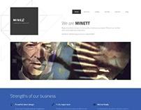 MINETT, Drupal 7 Premium Responsive Creative Theme