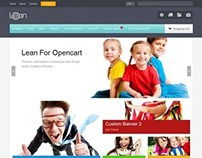 Lean, OpenCart Responsive Customizable Market Theme